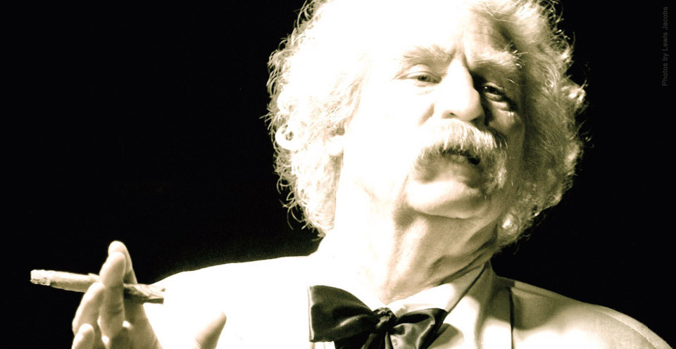 Twain is worldly, selfindulgent,